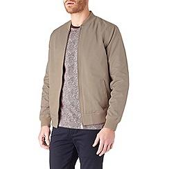 Burton - Taupe lightweight bomber jacket