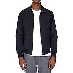 Burton - Black collared harrington jacket