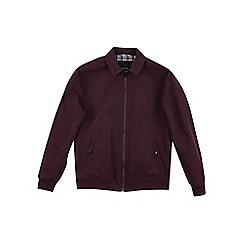 Burton - Burgundy collar Harrington jacket