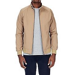 Burton - Tan raglan sleeve harrington jacket