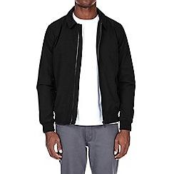 Burton - Black shirt collar harrington jacket
