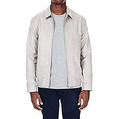 Burton - Grey suedette collar trucker jacket
