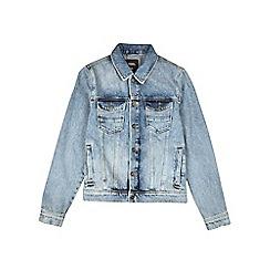 Burton - Blue denim Harrington jacket