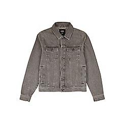 Burton - Grey denim Harrington jacket