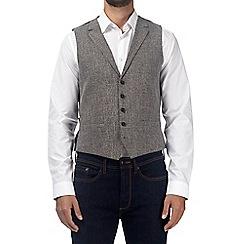 Burton - Grey scratch waistcoat