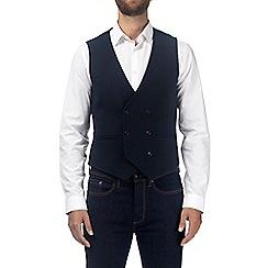 Burton - Navy honeycomb waistcoat