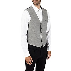 Burton - Grey wool blend waistcoat