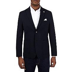 Burton - Navy honeycomb blazer