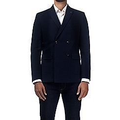 Burton - Montague Burton navy seersucker blazer