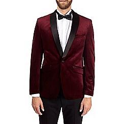 Burton - Burgundy velvet blazer
