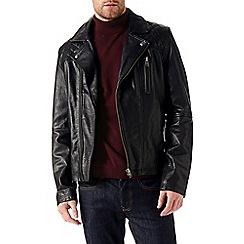 Burton - Asymmetric biker jacket