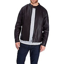 Burton - Brown pu racer biker jacket