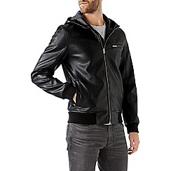 Burton - Black hooded bomber jacket