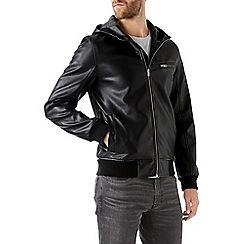 Burton - Black hooded bomber jacket