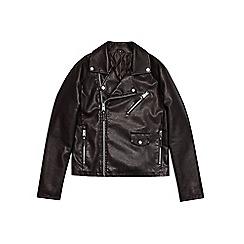 Burton - Black asymmetric biker jacket