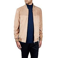 Burton - Montague burton sand real suede bomber jacket