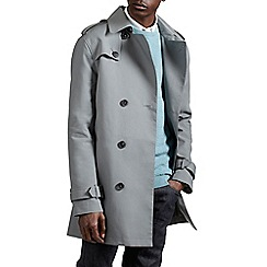 Burton - Grey belted shower resistant trench coat