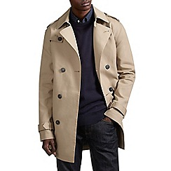 Burton - Stone shower resistant belted trench coat