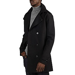 Burton - Black shower resistant  belted trench coat