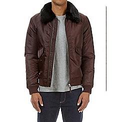 Burton - Burg fur collar MA2 bomber jacket