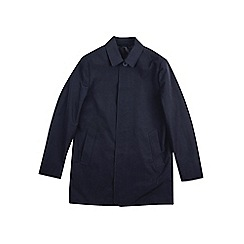 Burton - Navy smart single breasted mac