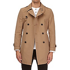 Burton - Camel double breasted trench mac