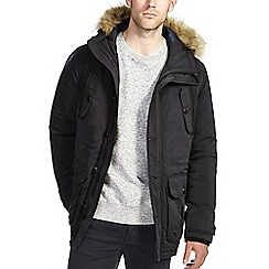 Burton - Black parka with faux fur