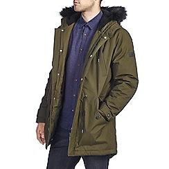 Burton - Khaki borg lined parka jacket