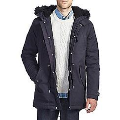 Burton - Navy borg lined parka jacket