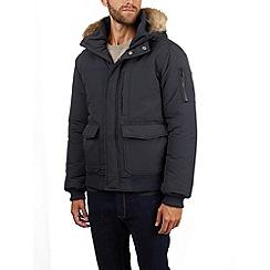Burton - Navy hooded short parka