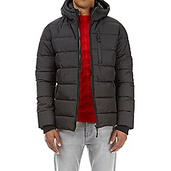 Burton - Black matrix quilted puffer jacket
