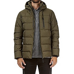 Burton - Khaki matrix quilted puffer jacket
