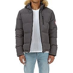 Burton - Grey brecon puffer jacket