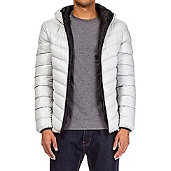 Burton - Grey glacier quilted and hooded