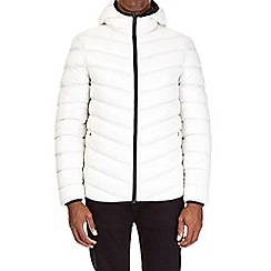 Burton - Ecru glacier quilted and hooded jacket