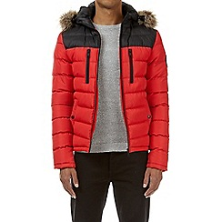 Burton - Red inverness quilted jacket