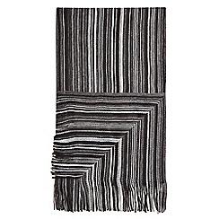 Burton - Black striped scarf