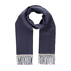 Burton - Navy herringbone woven scarf