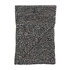 Burton - Grey twist knitted scarf