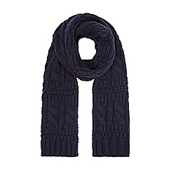 Burton - Navy cable knit scarf
