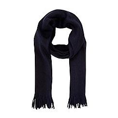 Burton - Navy raschel stripe scarf