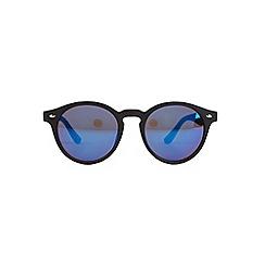 Burton - Black revo plastic round sunglasses