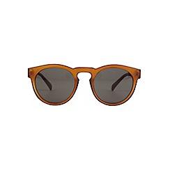 Burton - Burnt orange plastic round sunglasses