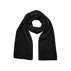 Burton - Black core knitted scarf