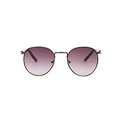 Burton - Grey smoke lenses vintage round sunglasses