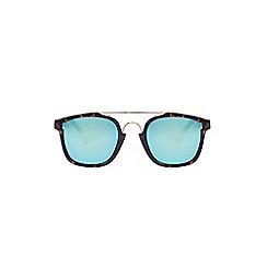 Burton - Brown tort flat brow sunglasses