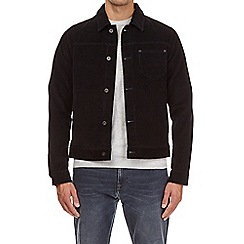 Burton - Navy blue cord trucker jacket