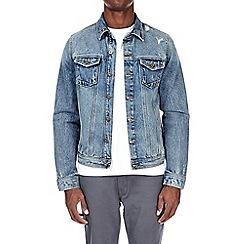 Burton - Blue distressed denim jacket
