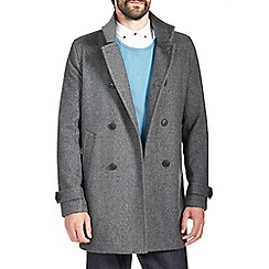 Burton - Grey double breasted wool jacket