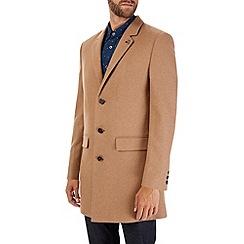 Burton - Camel wool chesterfield coat